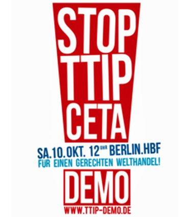 Logo zur Demonstration am 10. Oktober 2015 in Berlin